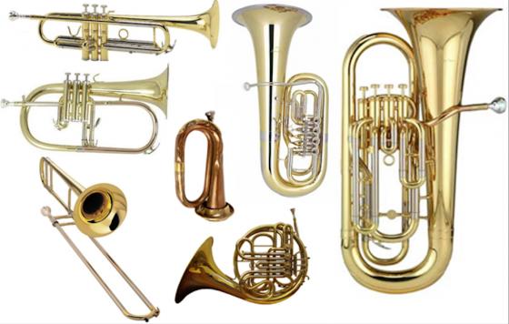 Koperen blaasinstrumenten