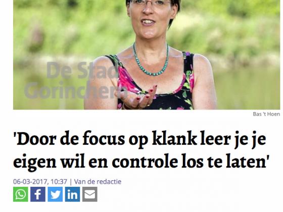 Zangdocente Ellen van der Ham in DE STAD GORINCHEM