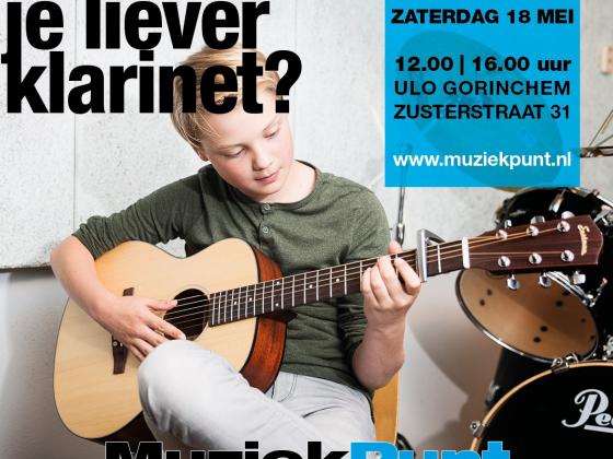 Open Dag MuziekPunt zaterdag 18 mei 2019